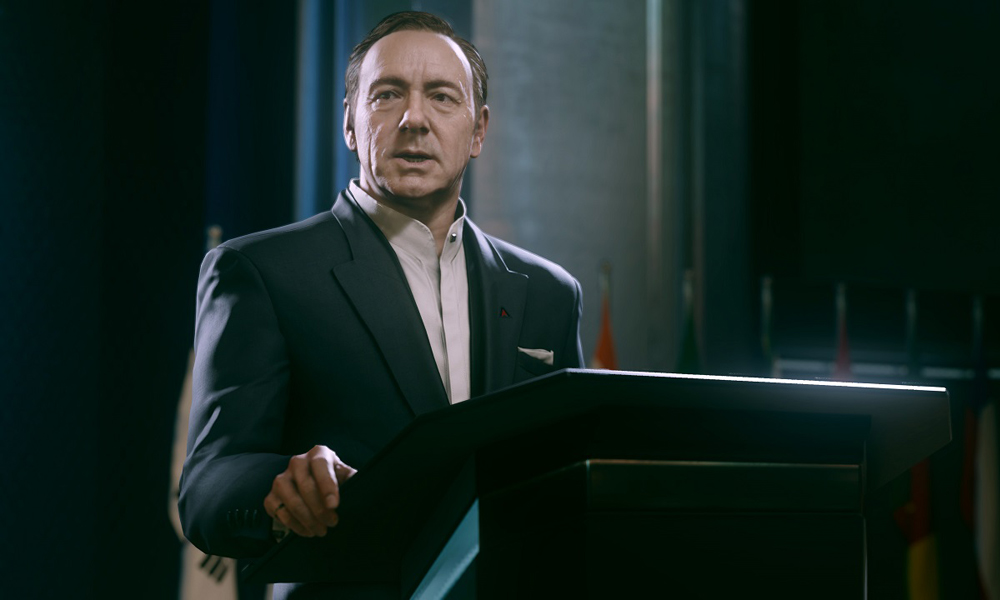 Kevin Spacey wows the crowd with his impersonation of Kevin Spacey.